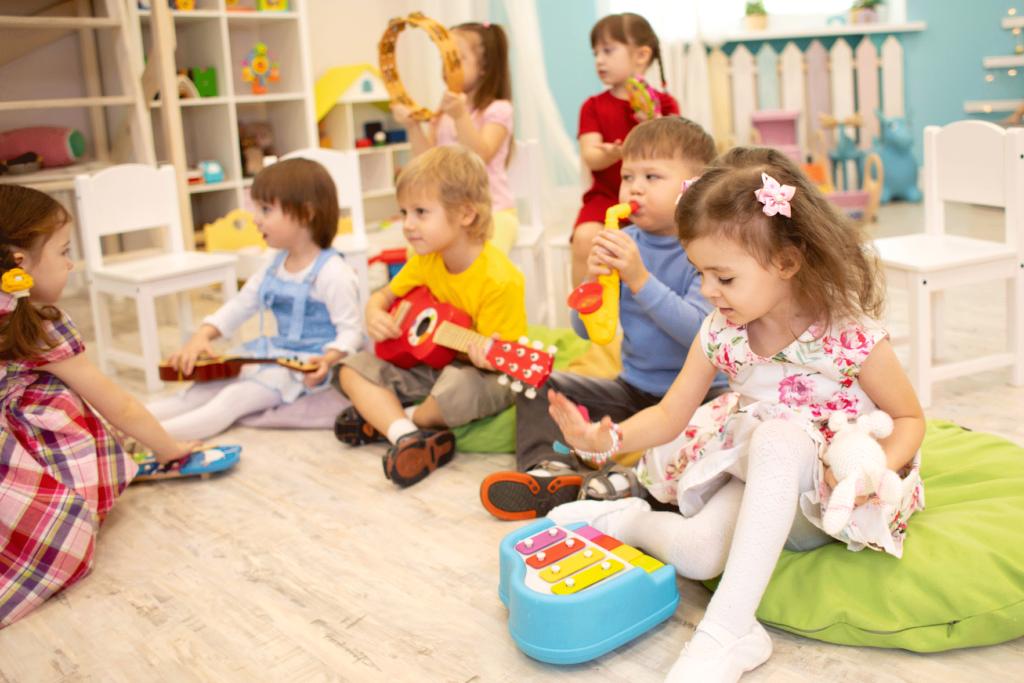 Barn som mottar musikkundervisning