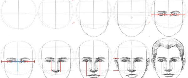 Tegn et ansikt på 10 steg